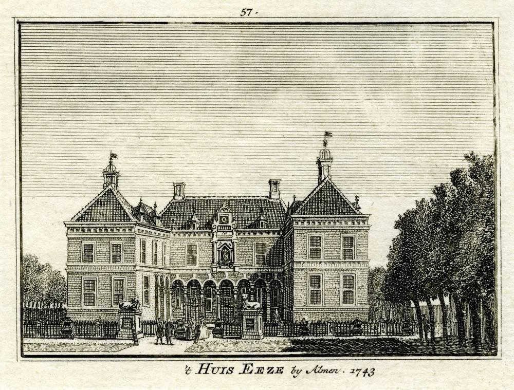 Ehze in Almen. Tekening Jan de Beijer, gravure Hendrik Spilman (Uit: Het Verheerlykt Nederland, Isaac Tirion, 1745/1774)